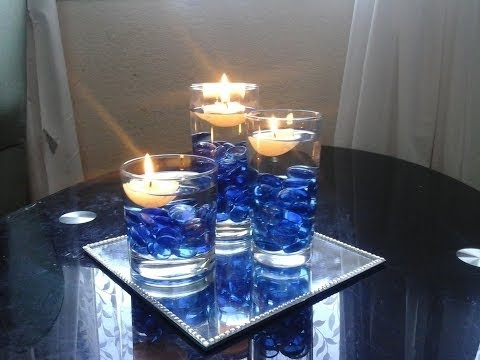 Beautiful Centrepiece Decoration Using Floating Candles