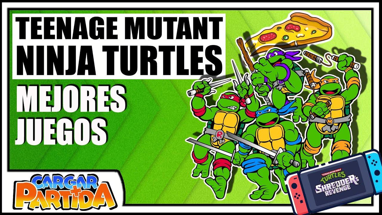 TOP 7: Tortugas Ninja (TMNT) Mejores Juegos  || CARGAR PARTIDA