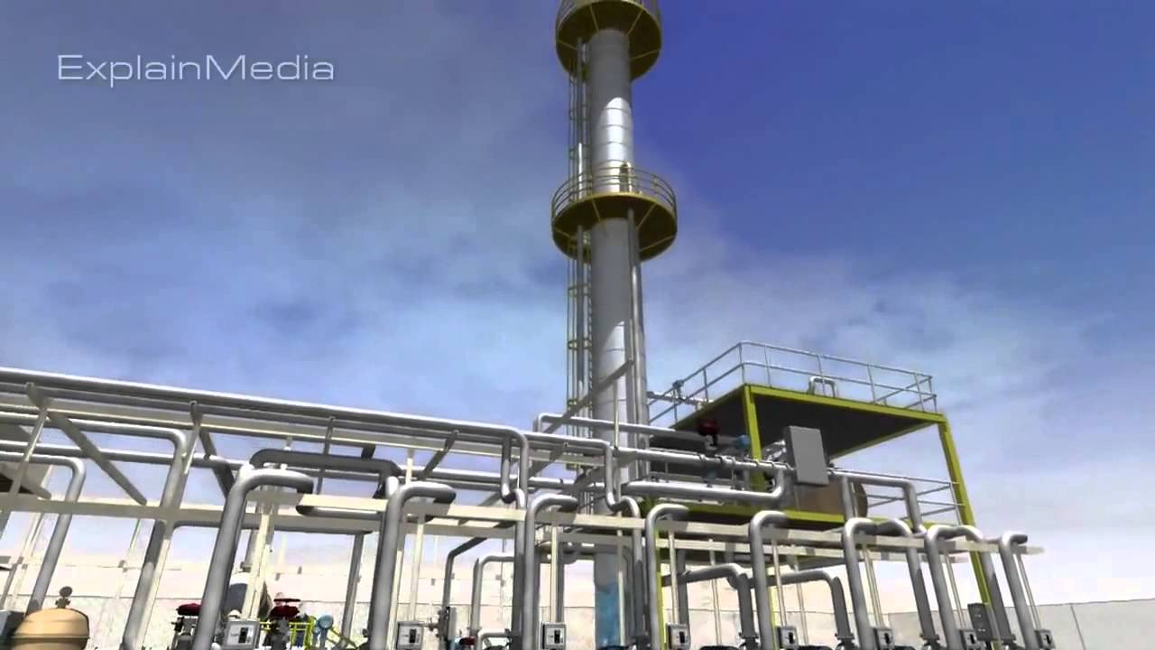 Mini Petrochemical Plant : Distillation fractionation column tower crude used oil