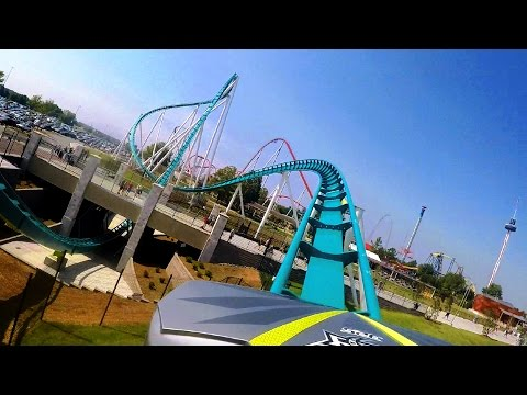 Fury 325 front seat on-ride HD POV Carowinds