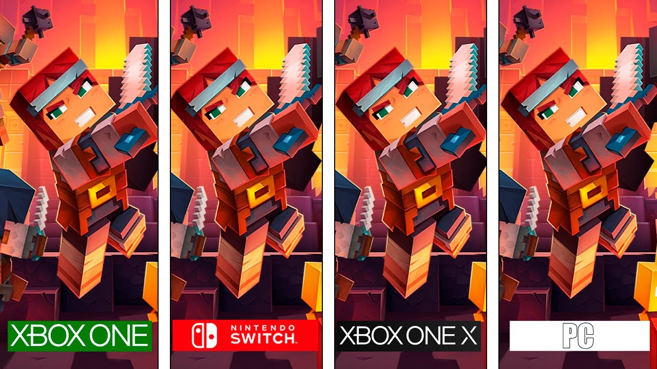 Minecraft Dungeons  Switch - ONE - ONEX - PC  Graphics & FPS Comparison