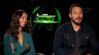 Chris Pratt e Zoe Saldana falam sobre suas origens