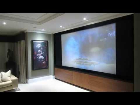 Lounge Becomes A Full Cinema Room