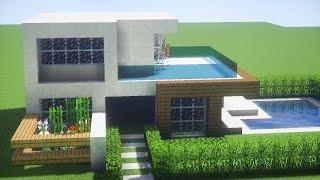 tutorial minecraft casas moderna casa modernas como