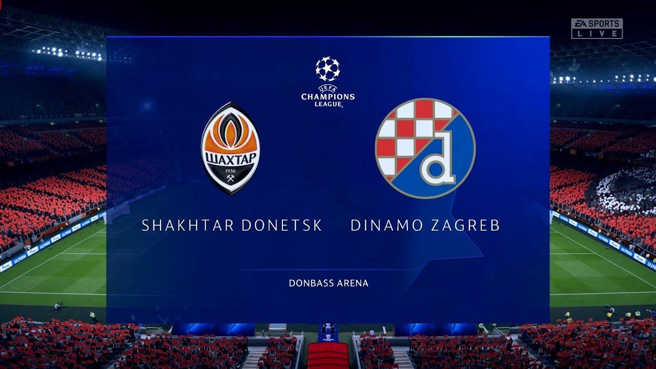 Shakhtar Donetsk Vs Dinamo Zagreb Uefa Champions League Fifa 20 Youtube