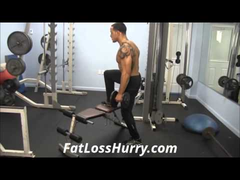 How To Do Step-Up With Dumbbells - Leg Workout To Jump Higher