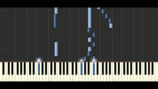 Bach -  Sinfonia in E major, BWV 792 - Piano Tutorial Synthesia
