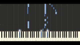 Bach -  Sinfonia in E major, BWV 792 - Piano Tutorial Synthesia