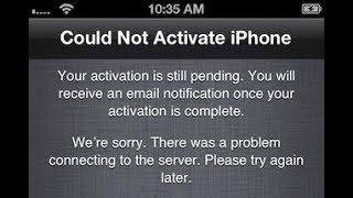 could not activate iPhone/ how can i solve it/any
