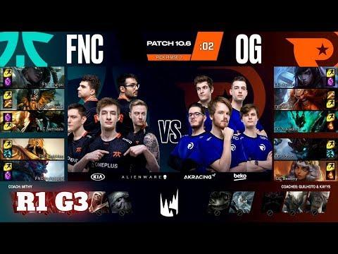Fnatic Vs Origen - Game 3   Round 1 PlayOffs S10 LEC Spring 2020   FNC Vs OG G3