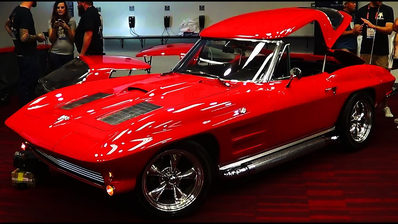 Split Window Corvette >> Split Window Convertible Corvette SEMA 2013 - YouTube