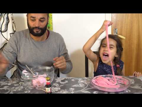 slime challenge with Maira vs dad | slime fail