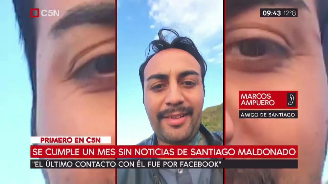 Primero en C5N: Habla Marco, amigo chileno de Santiago Maldonado ...