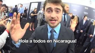 Saludo de Daniel Radcliffe a Marcela en Nicaragua