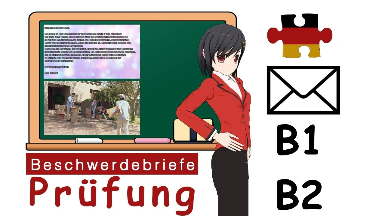 Deutsch Briefe Schreiben Prüfung B1 Und B2 Musterbriefe