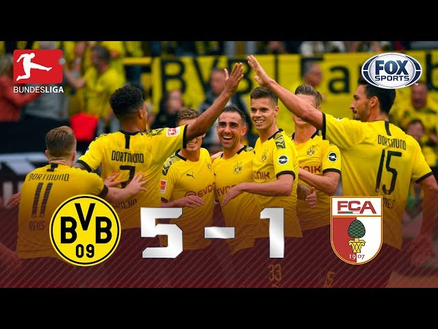 ATROPELO DO BORUSSIA DORTMUND! Veja a goleada de Borussia 5x1 Augsburg pela Bundesliga