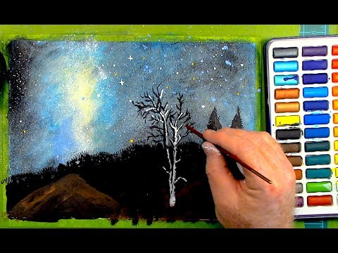 Painting a Milky Way Sky - Relaxing ASMR No.2