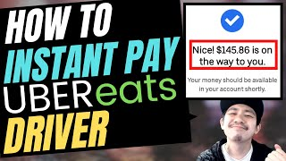 UBER EATS DRIVER - How to INSTANT PAY CASH OUT (Uber Driver Rideshare App)