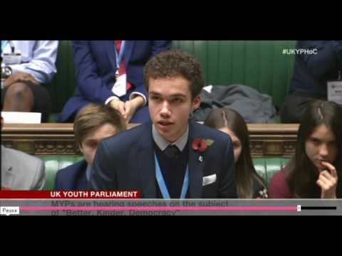 Isreal Genius Speech at UK Youth Parliament Nov 11 2016