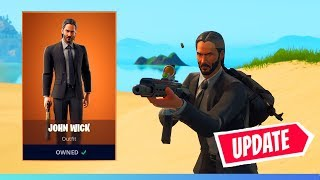 GREAT JOHN WICK UPDATE TO FORTNITE! * FREE ITEMS *