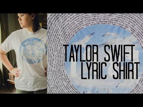 Taylor Swift Lyric Shirt