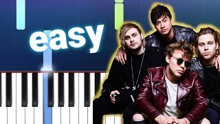 5 Seconds Of Summer - Easier (100% EASY PIANO TUTORIAL)