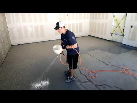 Garage Epoxy Floor Installation (Time Lapse)