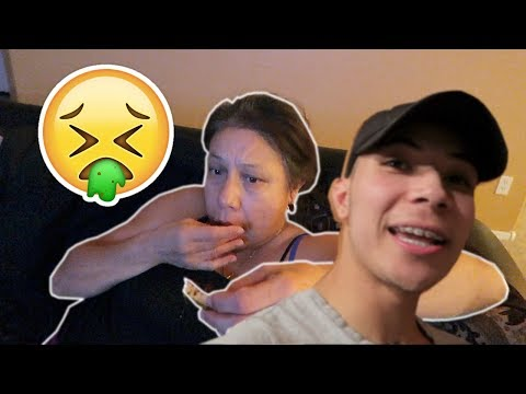FOOD POISONING MY MEXICAN MOM!!!