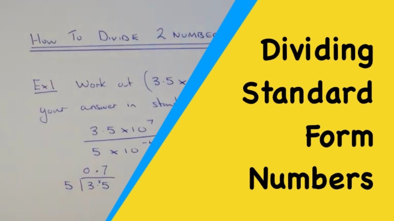 How to divide two numbers in standard index form without a how to divide two numbers in standard index form without a calculator falaconquin