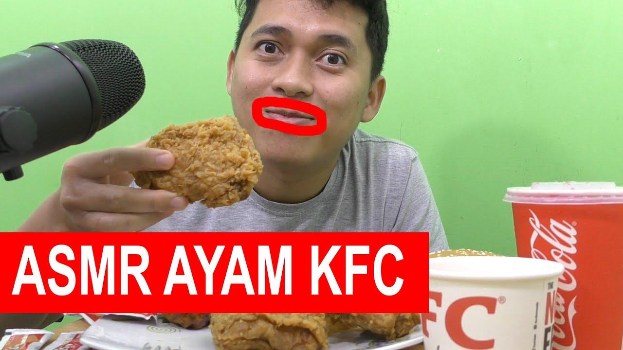 ASMR MUKBANG AYAM KFC, SPAGETI, KENTANG JADI LAPER