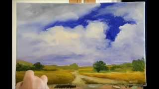 A 45 minute oil painting demo at x 8 speed