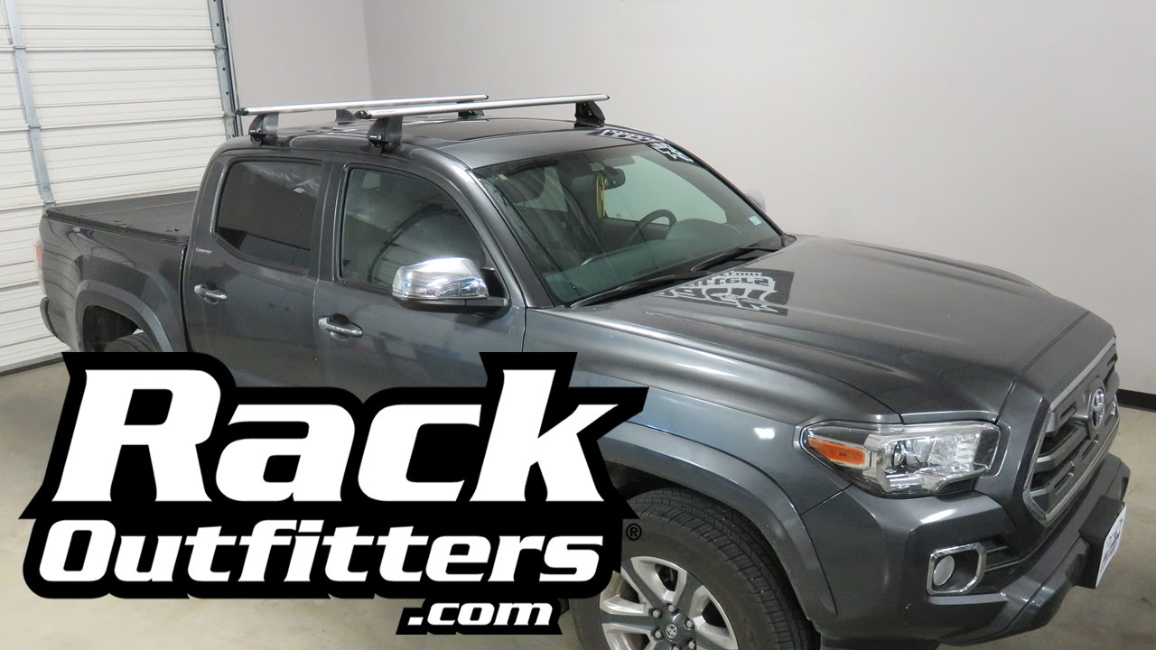 2016 Toyota Tacoma With Rhino Rack 2500 Vortex Roof Rack   YouTube