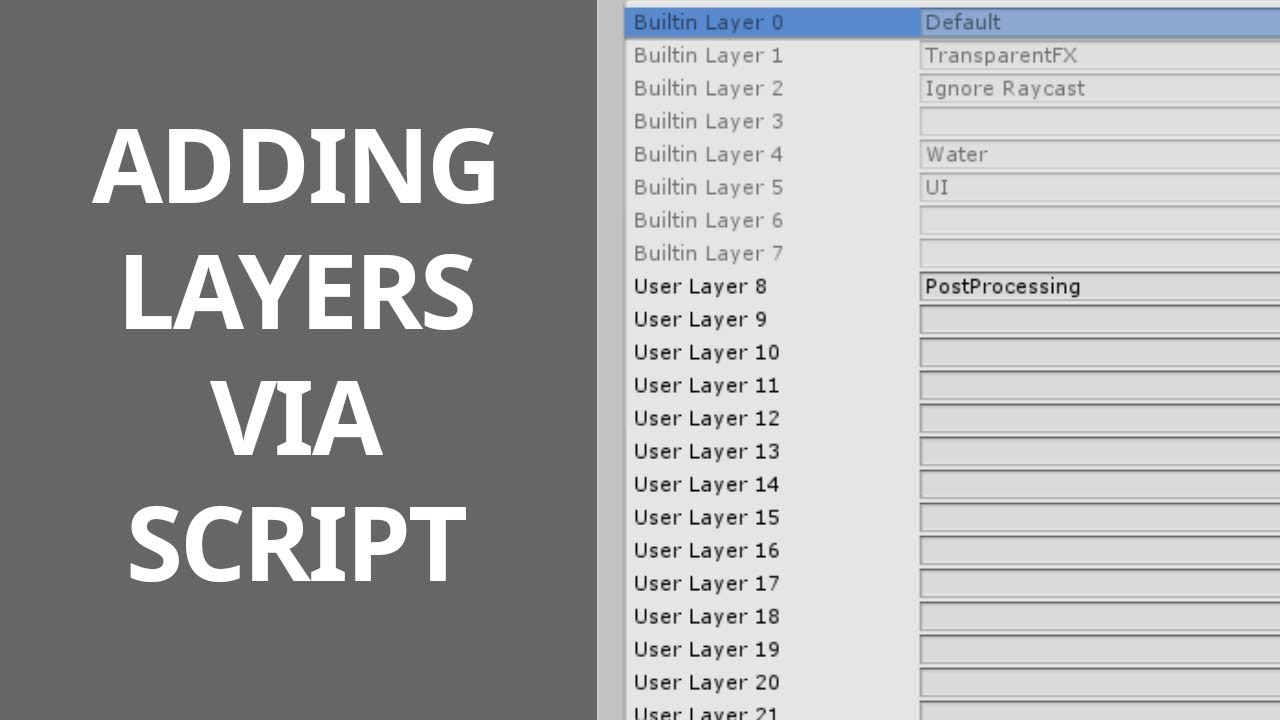 #55 Adding / Changing Layers via Script - Unity Course