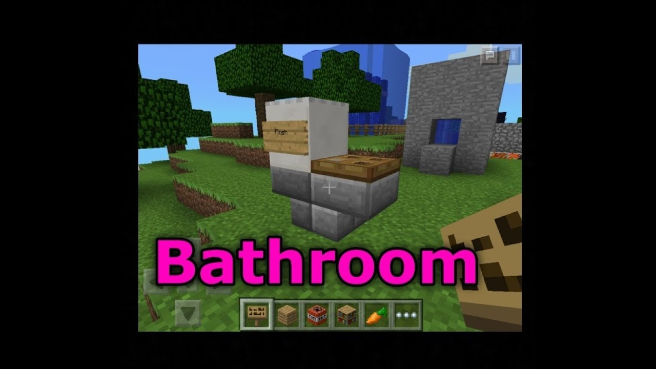 Minecraft Pe How To Make The Best Bathroom Furniture