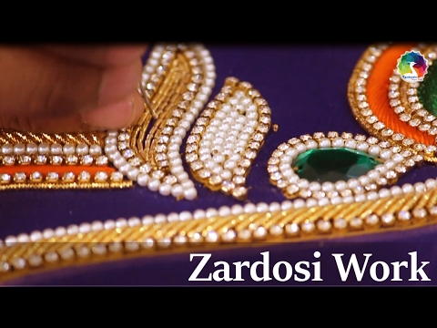 Zardosi Work Detailed HD Video   Indian Hand Embroidery