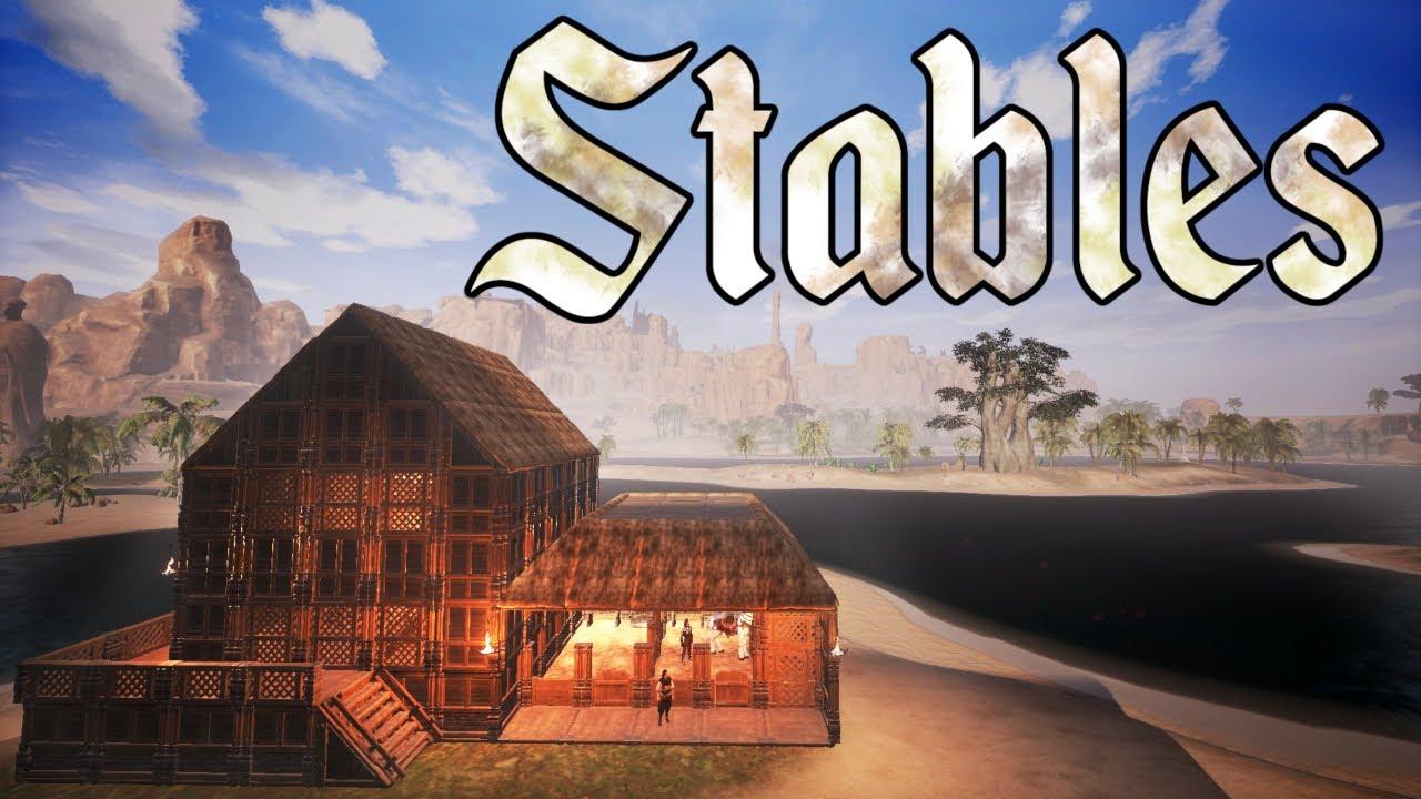 Conan Exiles Stables Build Guide Riders Of Hyboria Dlc Youtube