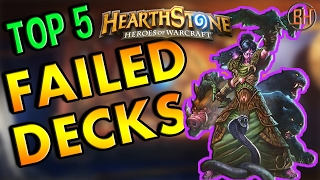Hearthstone Top 5: Failed Deck Archetypes