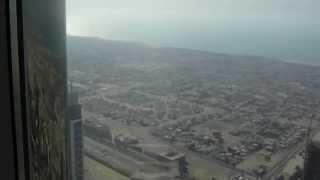 Dubai - widok z Burdż Kalifa - 124 pietro najwyższego budynku świata