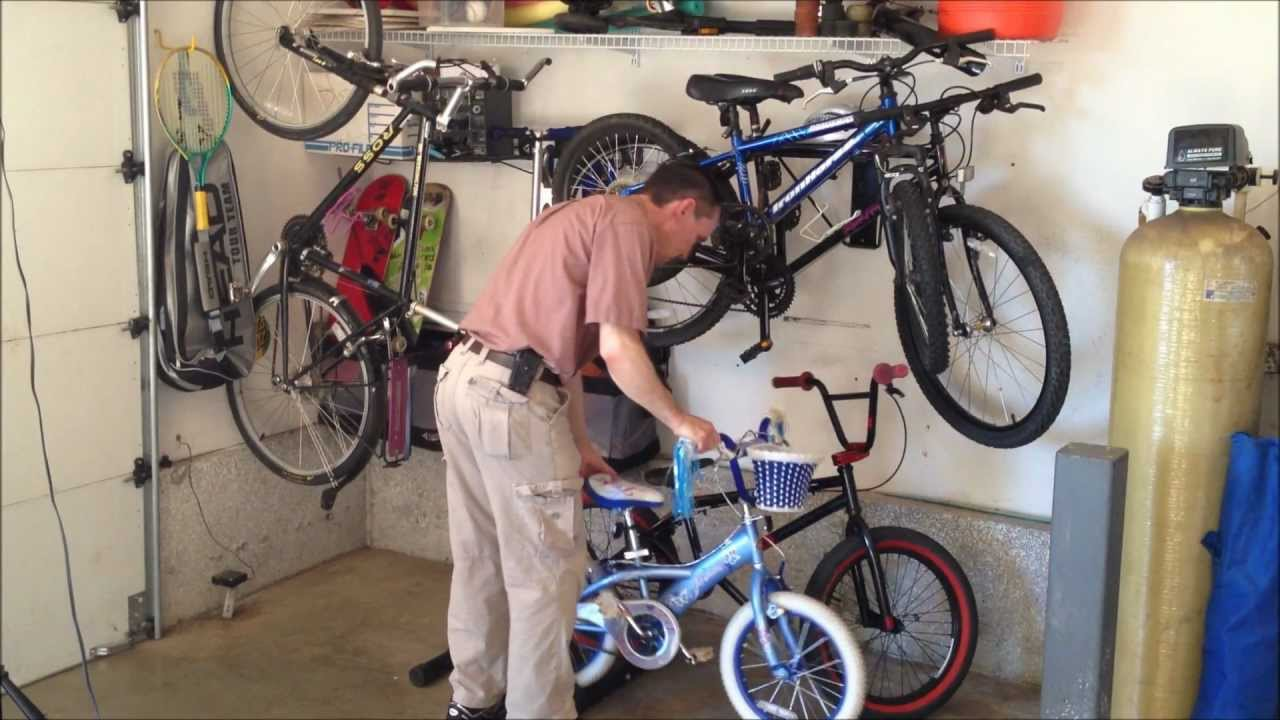 Bike Storage - 5 Garage Bicycle Storage Options - YouTube