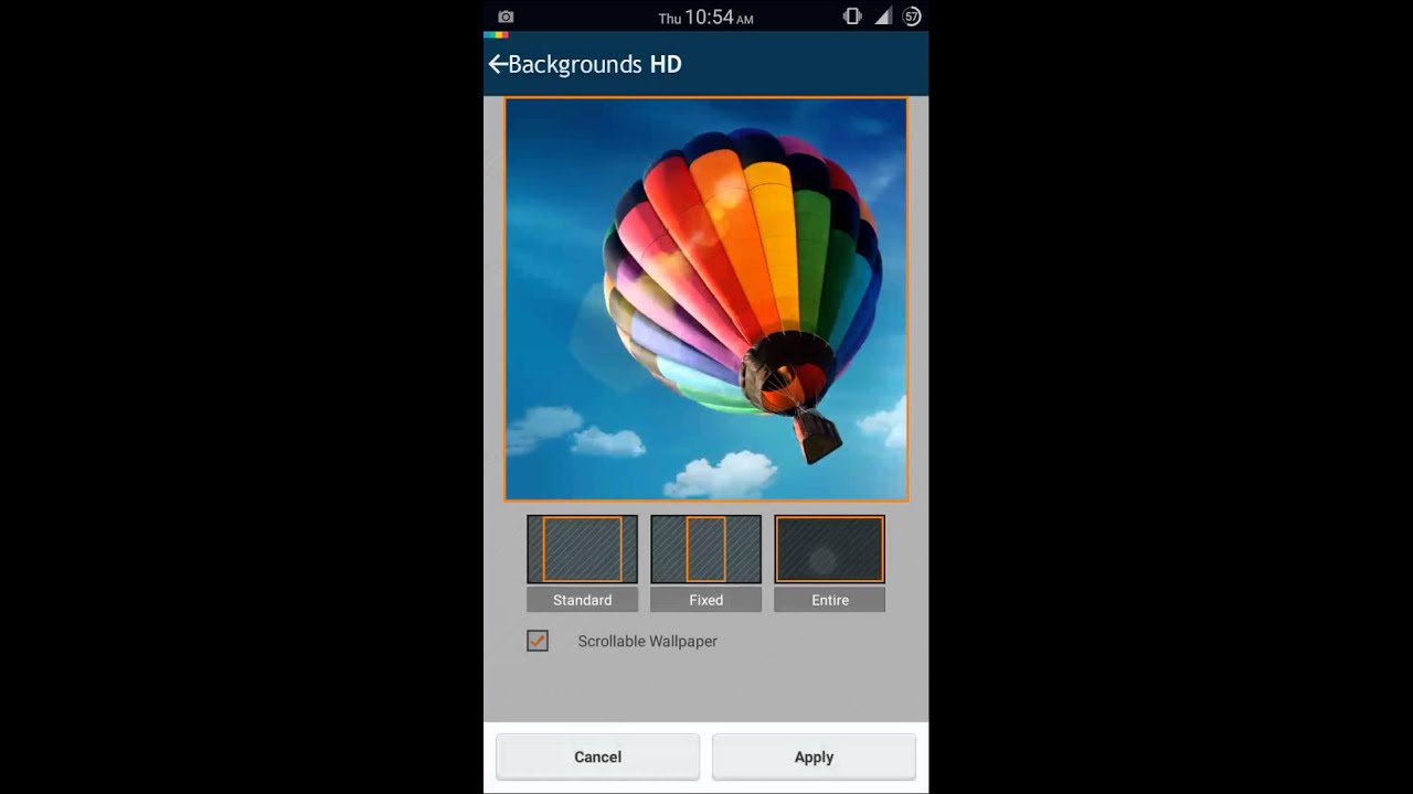 set full image as wallpaper without cropping it android device - YouTube