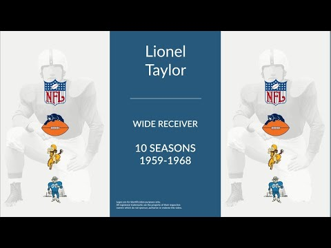 Lionel Taylor: Football Wide Receiver