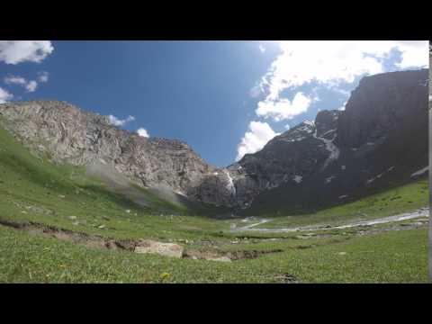 Waterfall Shaar. Kyrgyzstan.