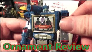 Soundwave G1 Transformers 2017 Hallmark Ornament Review - The No Swear Gamer