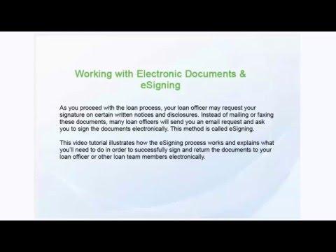 Видео E signature loans