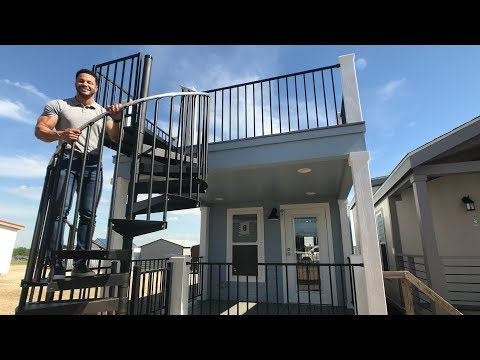 MOST AMAZING Tiny Home with ROOFTOP TERRACE and Double Lofts
