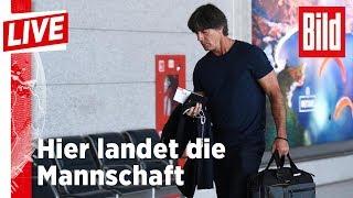 Nach dem WM-Aus – Die Ankunft der Mannschaft in Frankfurt - BILD Live