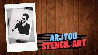Arjyou | Stencil Art | Shadow Artist Jr. #shorts #arjyou #Arjyoulive #art