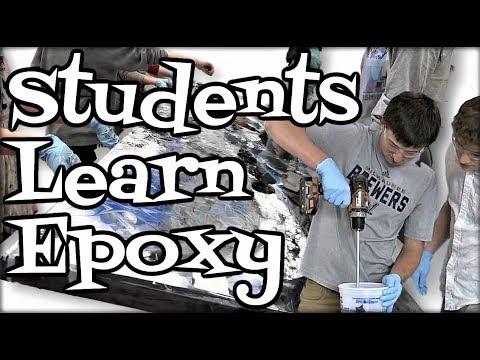 Students Learn Epoxy