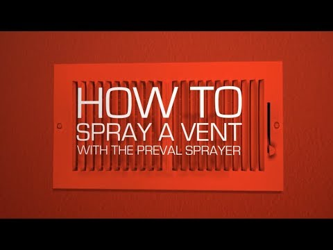 How to Spray a Vent With the Preval Sprayer