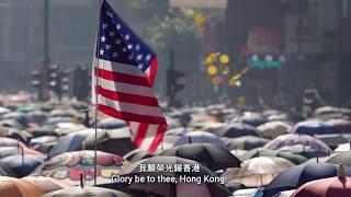 1st Oct 2019 China National day rally  Glory to Hong Kong �榮光歸香港